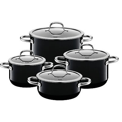 Silit Topf-Set 4-teilig Passion Black Schüttrand Made in Germany Hohlgriffe