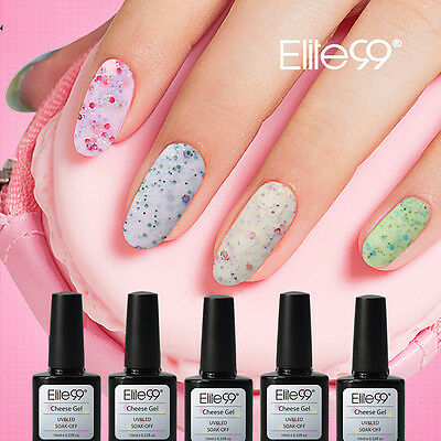 Elite99 Esmalte de Uña Queso y Arena Base Top Coat Soak-Off UV LED Manicura Arte