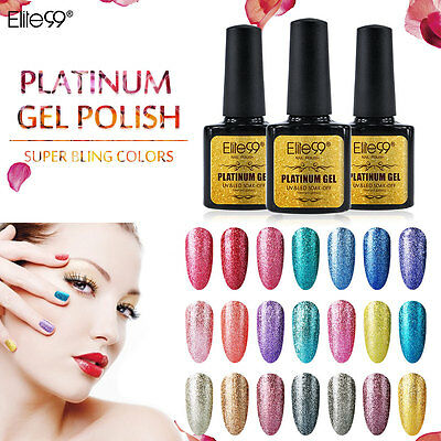 Elite99 Esmalte de Uña de Gel UV LED Color Platino Semipermanente Manicura Arte