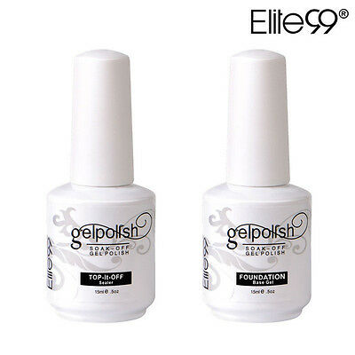 Elite99 15ml 2pcs Esmalte de Uñas de Gel Polish Base & Top Coat Empapada UV LED