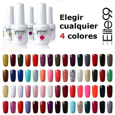 Elite99 Cualquier 15ml 4pcs Esmalte de Uñas de Gel Polish Base Top Coat Manicura
