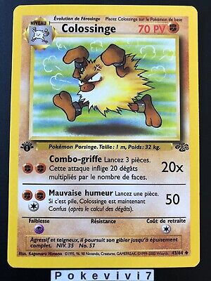 Carte Pokemon COLOSSINGE 43/64 Jungle Wizard Neuve Française EDITION 1 NEUF