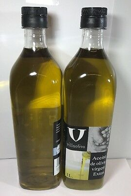 Spanish Extra Virgin Olive Oil 2 X 1 Litre Cold Extracted. Aceite De Oliva