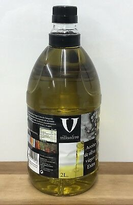 Spanish Extra Virgin Olive Oil 2 Litre Cold Extracted Aceite De Oliva