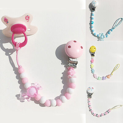 HA Colorful Baby Toddler Dummy Pacifier Soother Nipple Shield Chain Clip Holder