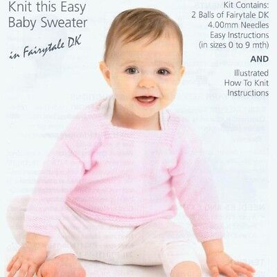 Patons - Knitting Kit - Baby Sweater / Jumper - Easy to Knit -  PBNK000-0073B