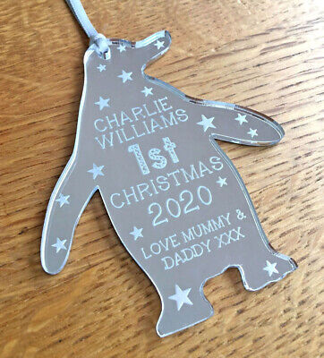 Personalised My Babys 1st First Christmas Tree Decorations Baubles Baby Gifts
