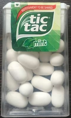 TIC TAC MINT Flavoured CANDY  9.7 gm ( PACK OF 12 )