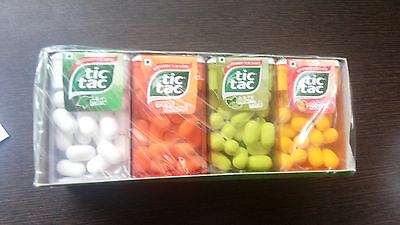 Tic Tac Mint 4 Flavor Orange, Elaichi ,peach ( Pack 12)