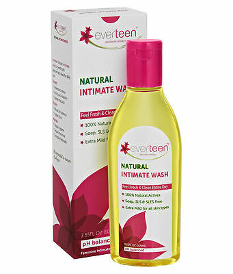 Everteen Natural Intimate Wash 105 ML FRESH FAST + FREE SHIPPING...