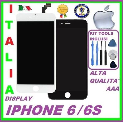 DISPLAY LCD RETINA ORIGINALE TOUCH SCREEN PER APPLE IPHONE 6 o 6S VETRO SCHERMO