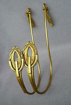 2 french curtain holders, rods made of brass mid-1900's