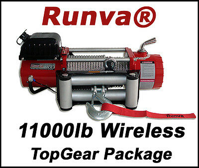 11000lb New Runva Off-Road 12V Towing Recovery Electric Winch Kit With Wireless