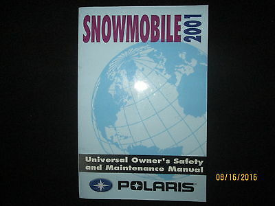 2001 Polaris Snowmobile Universal Owners Safety and Maintenance Manual Original