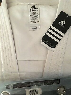 Adidas karate suit 200cm White Uniform K460J GI Heavy Duty Kimono WKF Approved