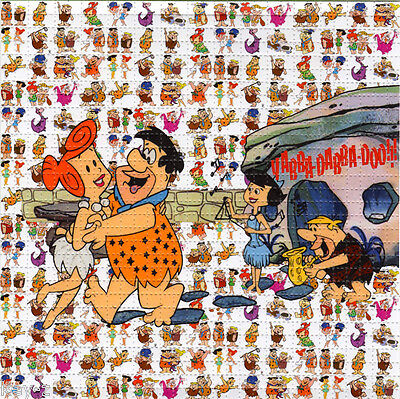 FLINTSTONES perforated sheet BLOTTER ART psychedelic LSD Acid Art paper tabs
