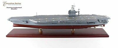 "Aircraft Carrier USN Theodore Roosevelt CVN-71 31"" Built Wooden Model Assembled"
