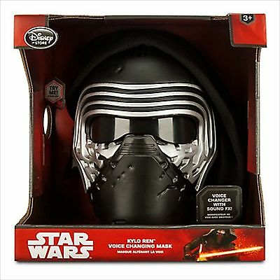 New! Disney Store STAR WARS The Force Awakens 2015 Voice Changing Mask KYLO REN