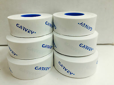 GENUINE GARVEY LABELS FOR PRICE GUN 22-6  22-7  22-8  White 6 ROLLS 1) INK ROLL