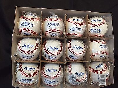 Rawlings NFHS Stamped Official League Baseball Pack of 12 Wrapped Individually