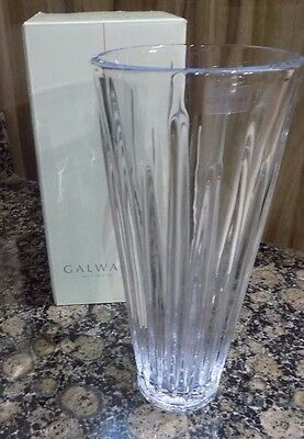 "Galway Irish Crystal 9"" Willow Vase"