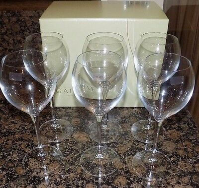 Galway Irish Crystal 6 X Clarity White Wine Goblet  Glasses