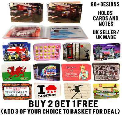 Iconic Gift Design Wallet Travel Bus Pass Rail Credit Card Holder For Oyster Lot