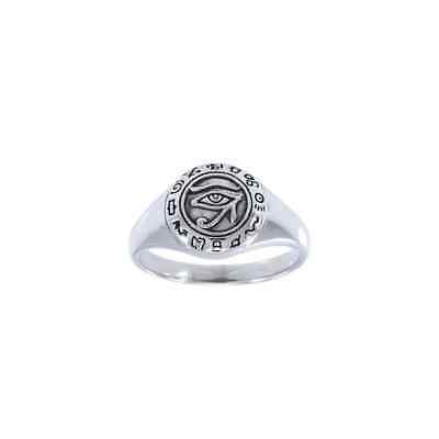 Eye of Horus Egyptian .925 Sterling Silver Ring by Peter Stone