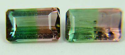 Natural Bicolor, Watermelon Tourmaline,1.30ct,4x6mm,pink and green,Morro Redondo
