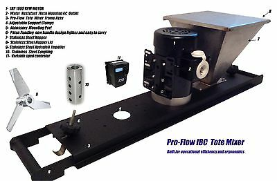 Ibc Tote Mixer Variable Speed With Stainless Steel Hopper