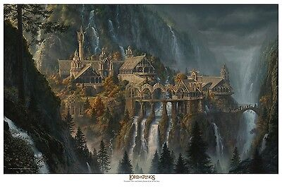 The Lord of the Rings - Rivendell paper giclee by Jerry VanderStelt