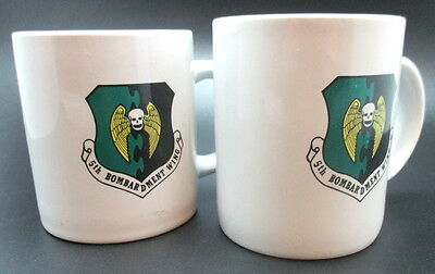 Vintage USAF Air Force 5th Bombardment Group Ceramic Coffee Mugs Set of 2