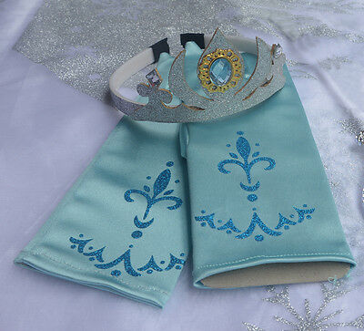 NEW Frozen Elsa Anna Tiara Princess Crown Wand Gloves Party Cosplay