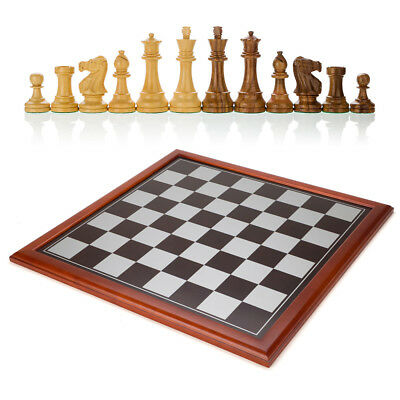 NEW Italfama Framed Chess Board with Hand Cut Chess Pieces