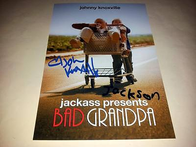 """Bad Grandpa Cast X2 Pp Signed 12X8"""" Poster Jackass Johnny Knoxville"""