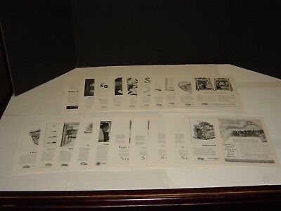 Southern Railway System 22 Pages National Geographic Vintage Print Ads Original