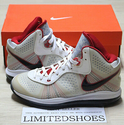 newest 787ca d9970 ... NIKE LEBRON VIII 8 V 2 WHITE BLACK SPORT RED 429676-100 US 8.5 ...