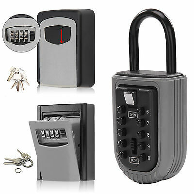Outdoor High Wall Mounted Storage Key Safe Box Secure Lock Combination Outside