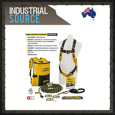 Beaver #BK061215TRAD B SAFE Safety Harness Complete Tradie Roof Kit AS/NZS1891.1