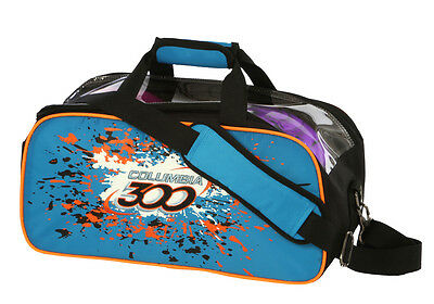 Bowling bag Columbia 300 Team Double Tote bag blue compact for 2 BowlingBalls