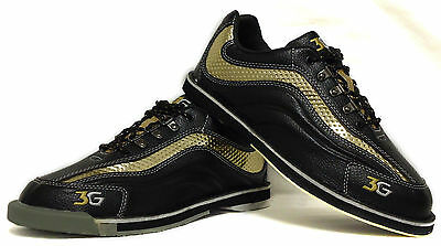 Men's Pro Bowling shoes 3G Sports Ultra black/gold with Change sole Pick