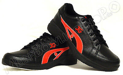 Men's Bowling Shoes 3G Sneaks black/red for Right handed