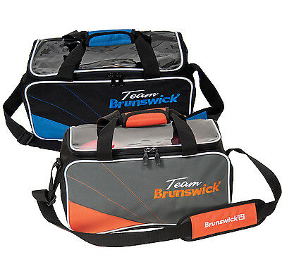 Bowling bag Brunswick ick Team Double Tote bag for 2 BowlingBalls & Shoes