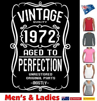 50th Birthday 1968 Funny T-Shirt Vintage Present gift Aussie Store size charts