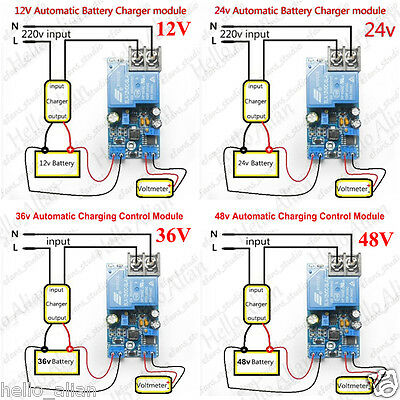 12V 24V 36V 48V Automatic Battery Charger Charging Controller Protection Board