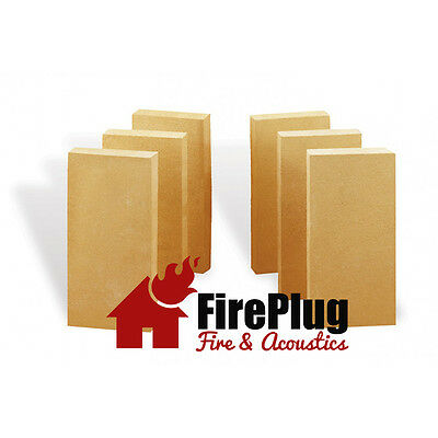 Fire Bricks for Stoves & Fireplaces 230 X 115 X 25 mm x 6
