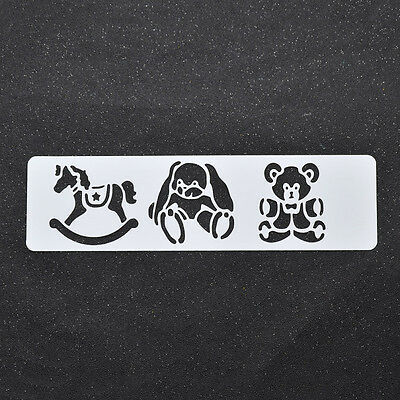 Stencils Scrapbooking Tool Drawing Hobbyhorse Bear Spray Painted Template Dog