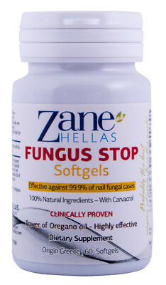 Fungus Stop SOFTGELS.COMPLEMENTARY SOLUTION with Fungus Stop Nail Solution.