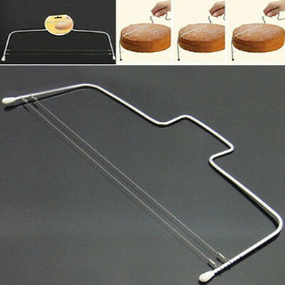 Stainless Steel Layered Adjustable Wire Cake Slicer Cutter Leveler Divider Tool