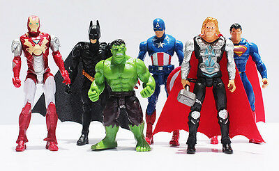 Cake Topper Figure - AVENGERS-Batman Iron Man Superman Hulk Captain America Thor